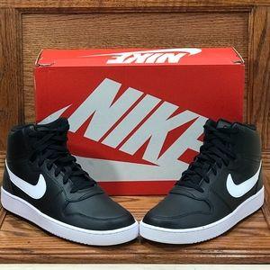 Nike Ebernon Mid Black White Shoes